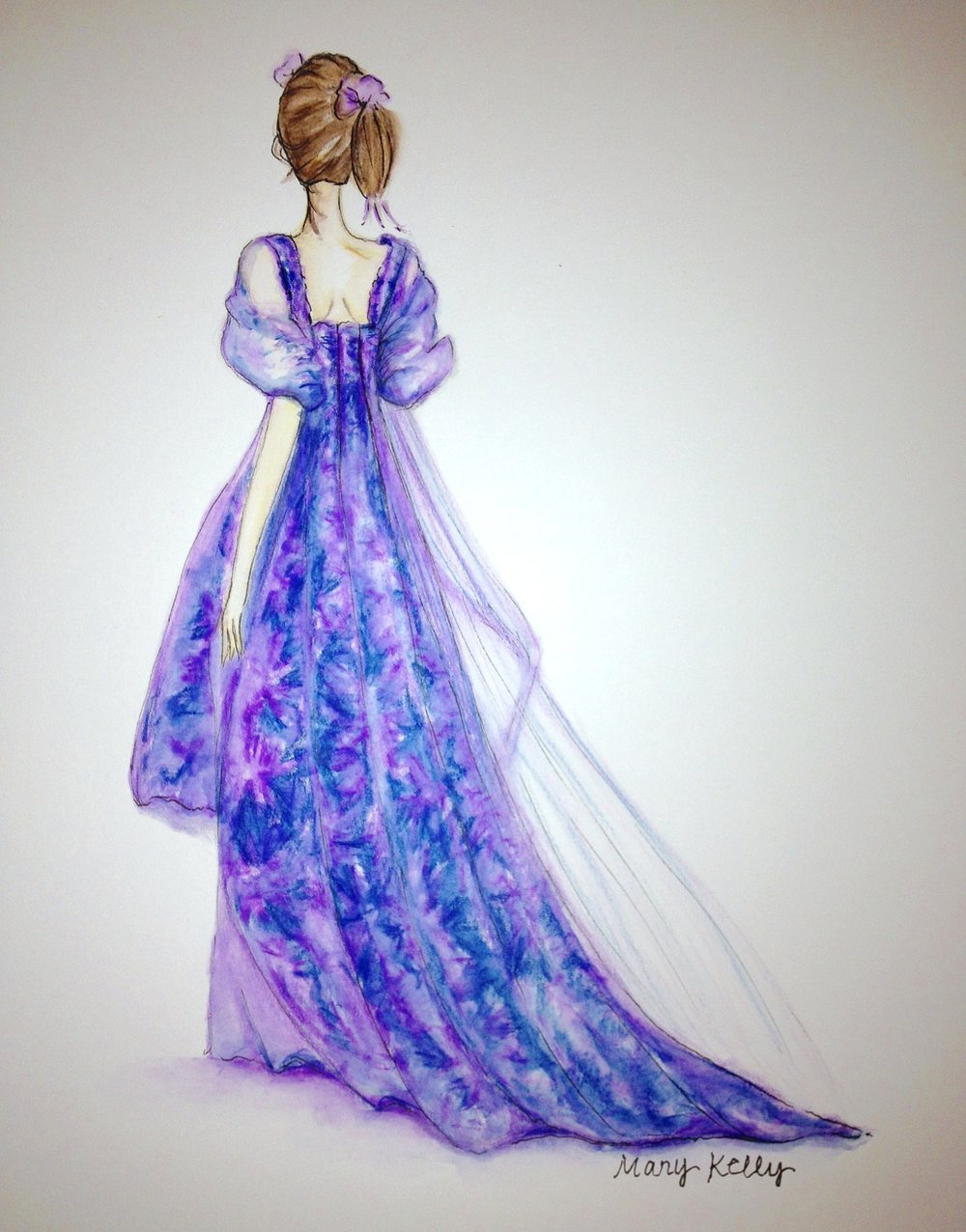 girl in purple gown, © 2019 marykellydesigns