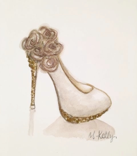 bridal shoe, © 2019 marykellydesigns