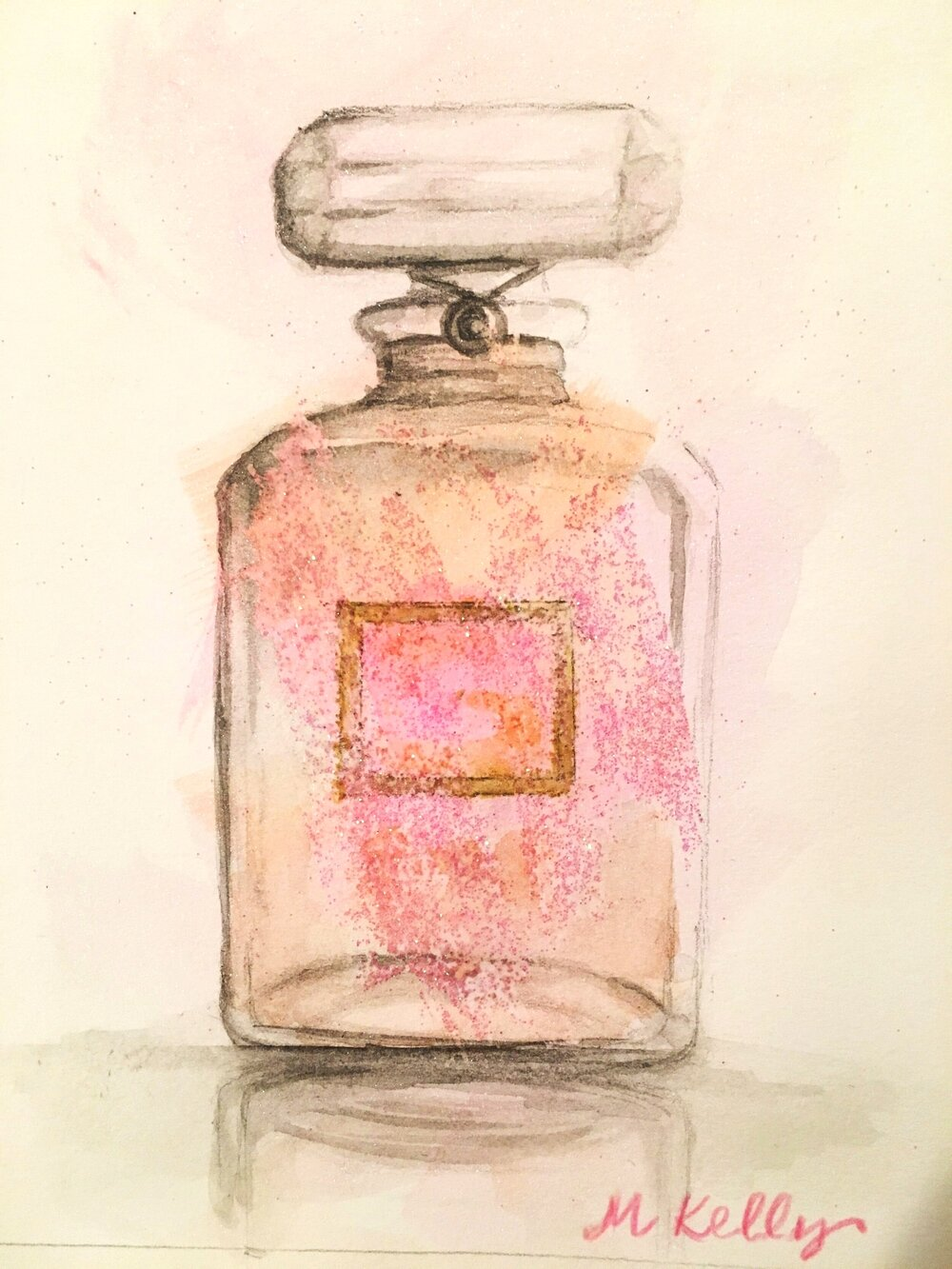 CC perfume bottle, © 2019 marykellydesigns