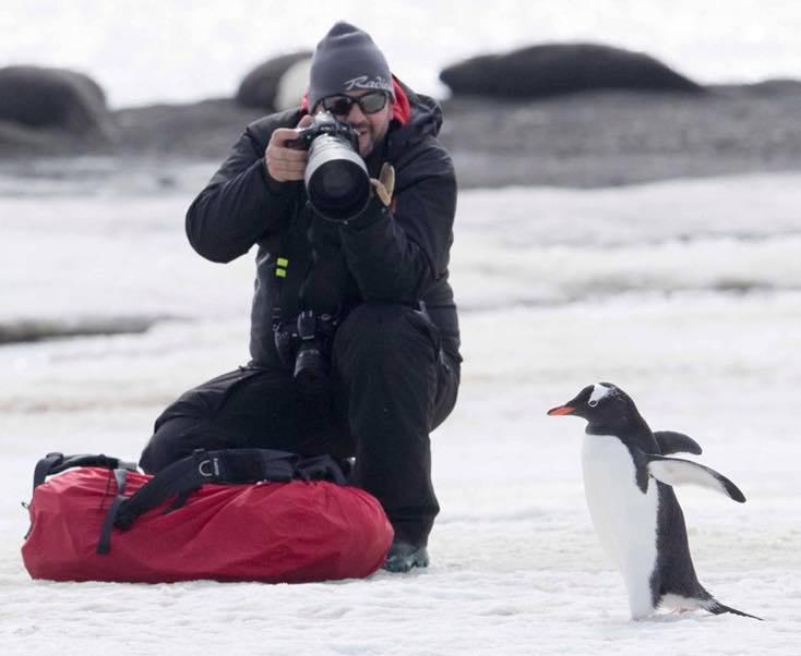 Christian Rogantini in Antarctica