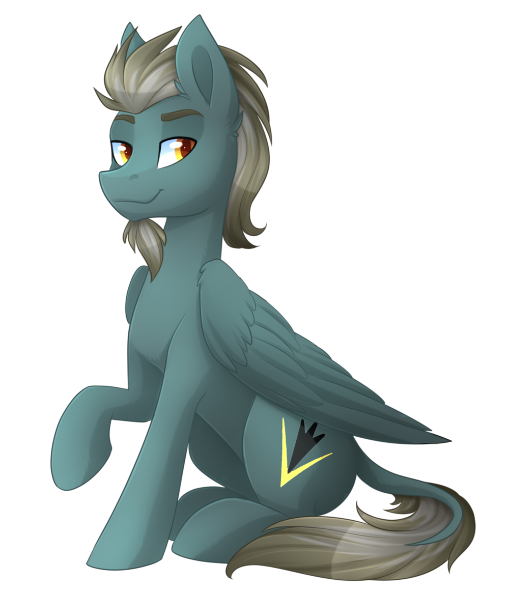 Sitting Gray Pony.png
