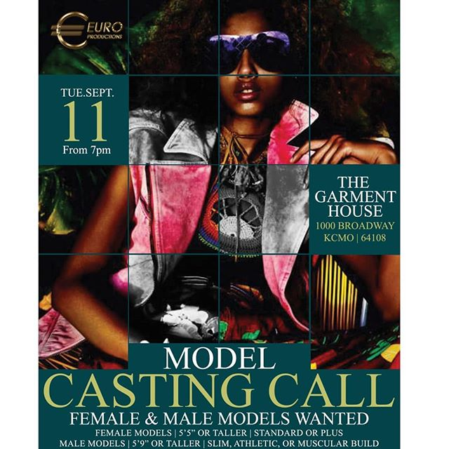 Casting Call  male and Female models  21+ Doors open at 7  Visit http://euro-productions.com