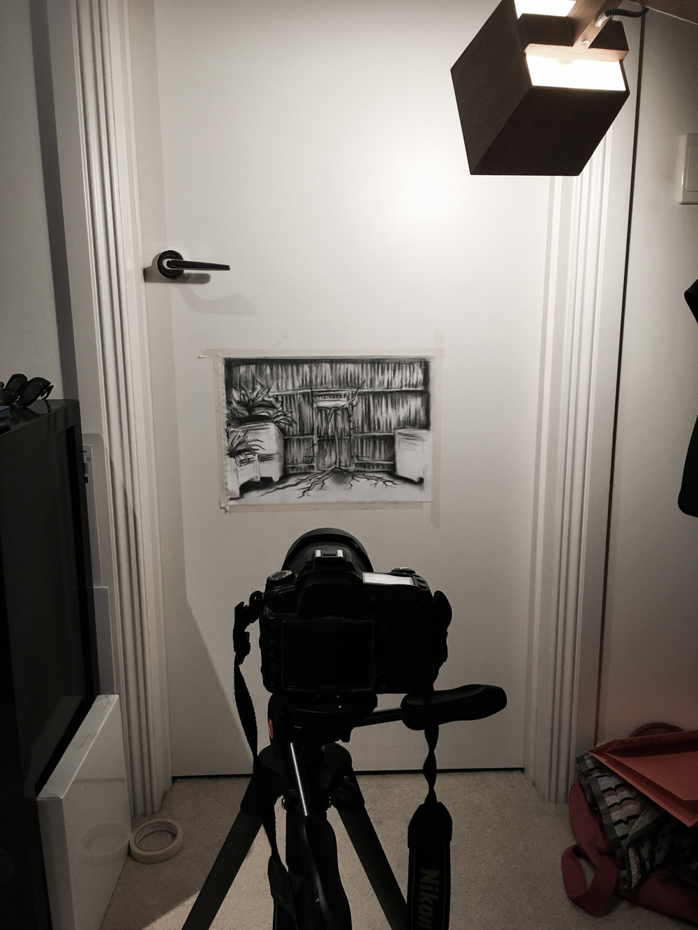 Camera and sketch set up