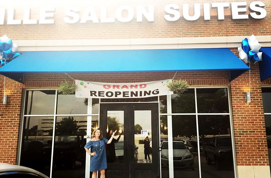 Come on in! New owner, Shelley Davis, welcomes you and your customers to Lewisville Salon Suites & Spa.