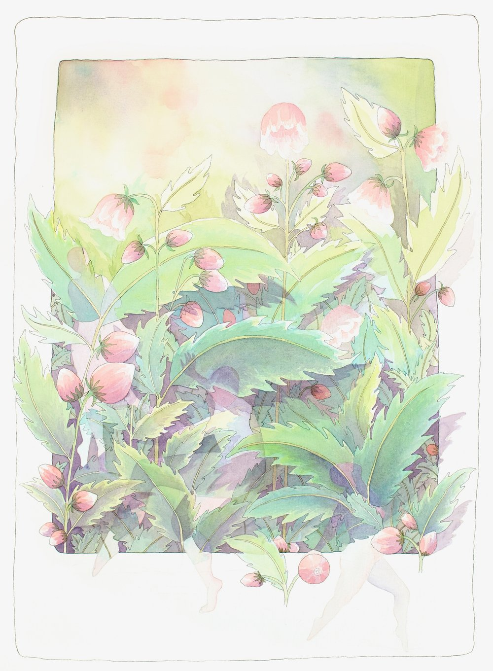 """Fairies in the Garden""    Water Color Giclee.......8""X10"".........$60.00    By Molly Milligan"