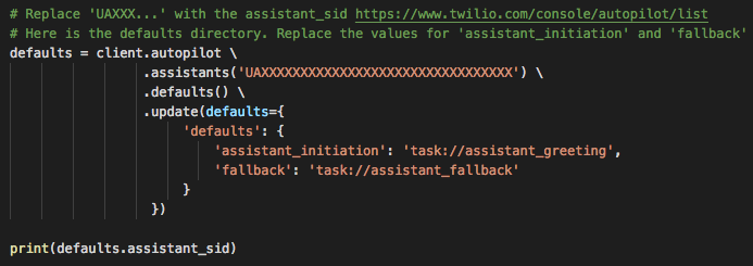 Assistant Initiation and Fallback