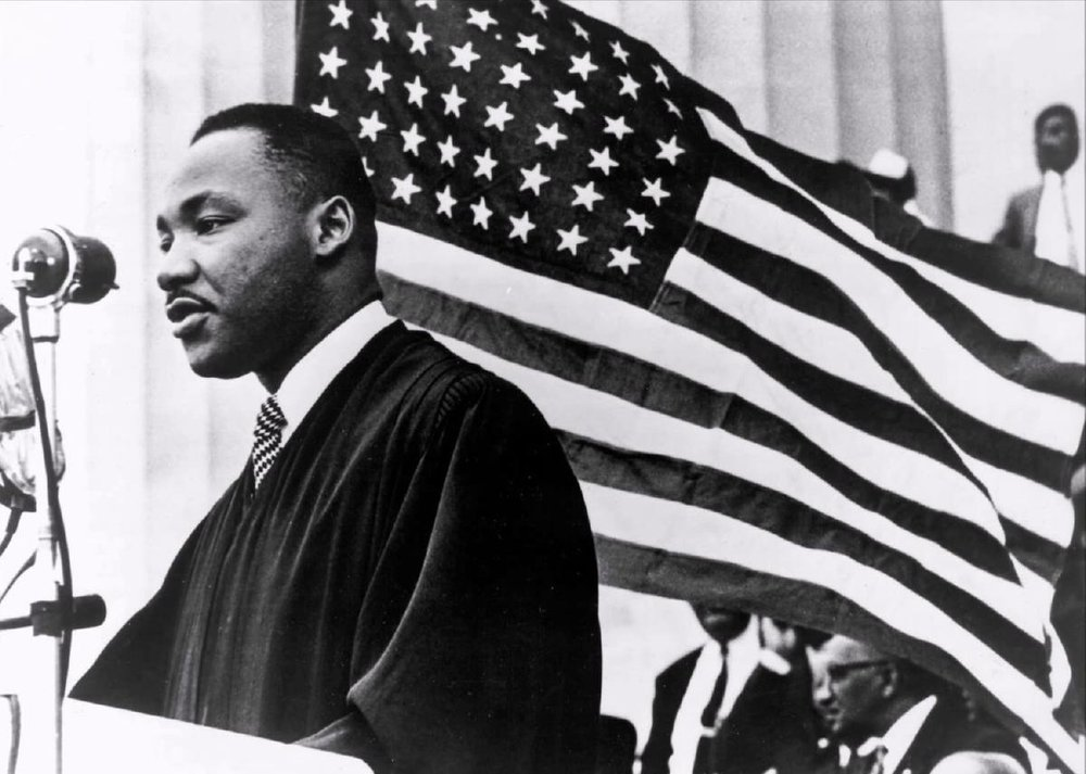 - I started by finding a photo that I felt most captured the power of Dr.King.I chose this photo, for the movement in the composition and the the intensity already clear in the photo.