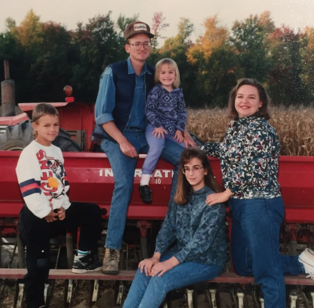 Robert raised his family on the farm