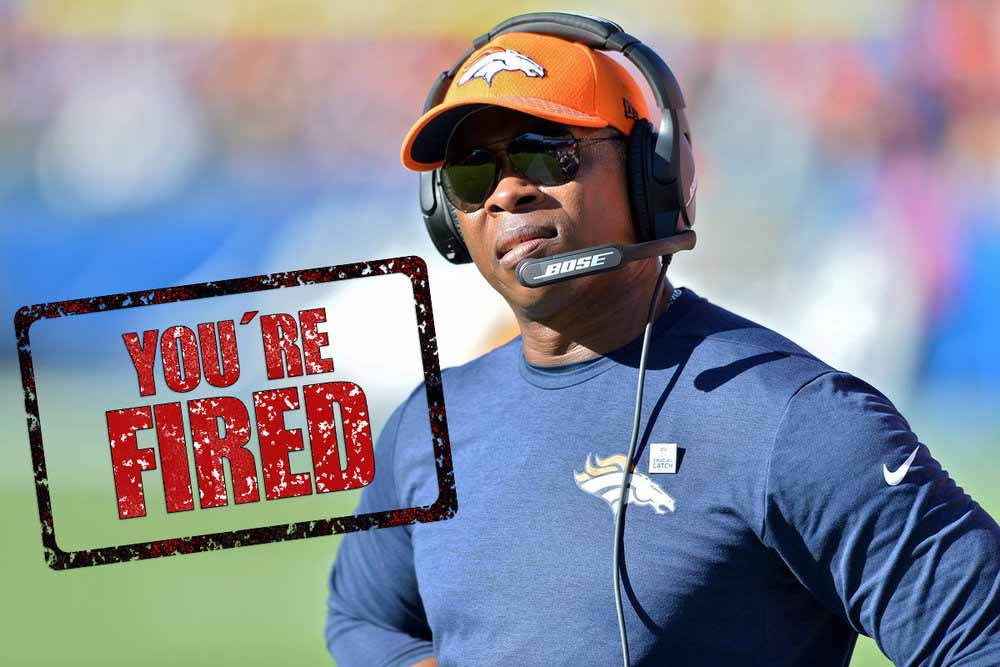 Fire Vance Joseph - The Broncos will not succeed as long as Vance Joseph is the head coach. Young talent will not develop. Veteran talent will waste away. The team will, at best, compete for 3rd or 4th place in the AFC West.As we all know, Josh McDaniels was fired in 2010 for an atrocious record and the now-infamous Spygate 2 fiasco, which involved the secret taping of a San Francisco 49ers' practice session in London, England.The only thing McDaniels has on Joseph is the scandal, but given the allegations of sexual assault made against Joseph in 2004, it wouldn't be entirely shocking for something to emerge later on down the line that taints both him and the Broncos for good.Quite frankly, anything short of a playoff berth should cost Vance Joseph his job.