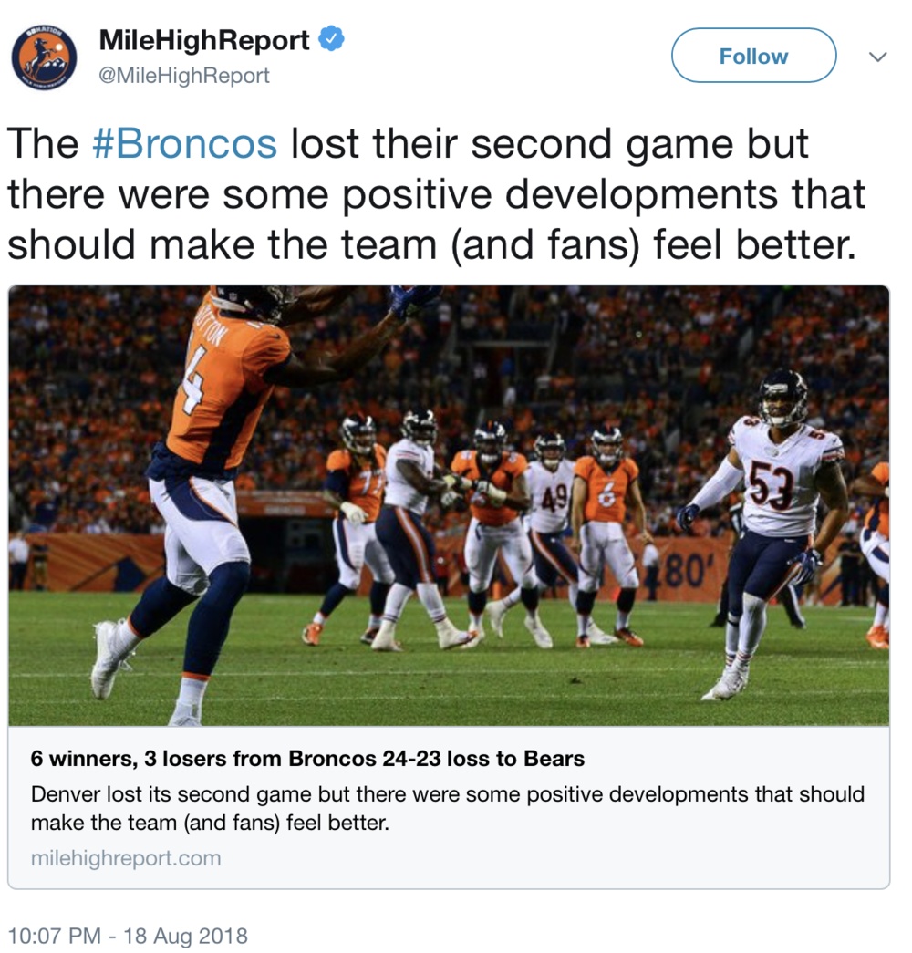 You know things are bad in Broncos Country when you see tweets like this from MHR.