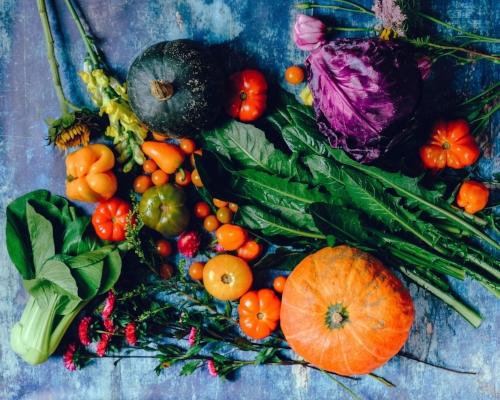 Vibrant fresh vegetables the heart of the life giving diet we provide