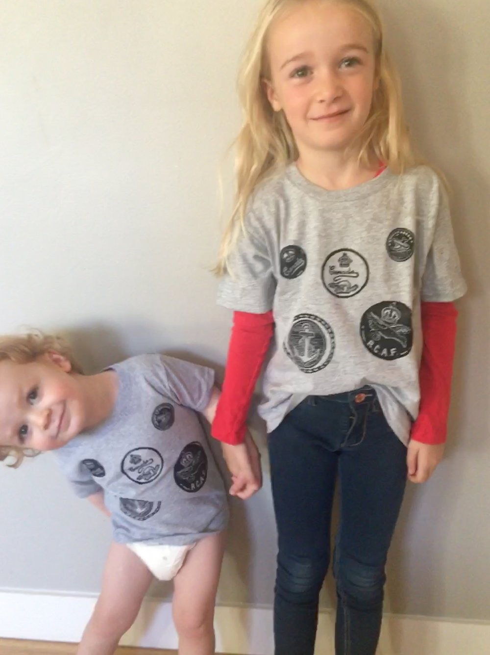 "Henry & Grayson wearing ""RCAF Tribute"" T-shirts"