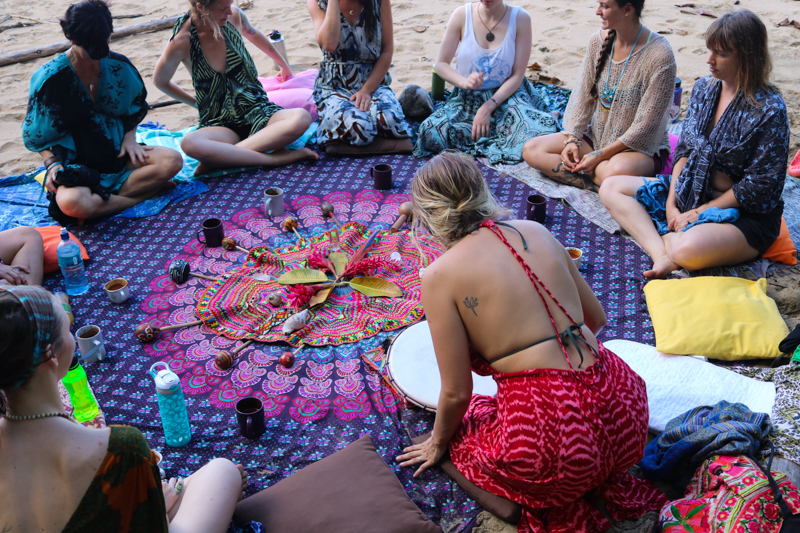 Daily women's circles and ceremonies - It's incredible what we can tap into when we simply come together in circle, as women have done from the beginning of time. In one another's reflection we remember that we are never alone in our shadows and in our light, and there is a universal pulse that connects us all. The gentleness we create in this space allows for profound healing and feelings of deeply authentic connection.