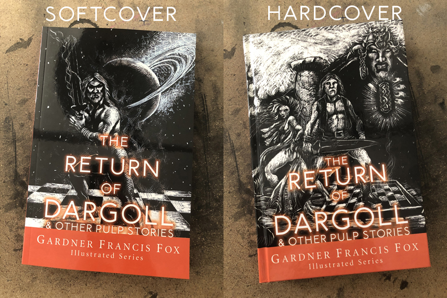 Softcover on the left and Hardcover on the right