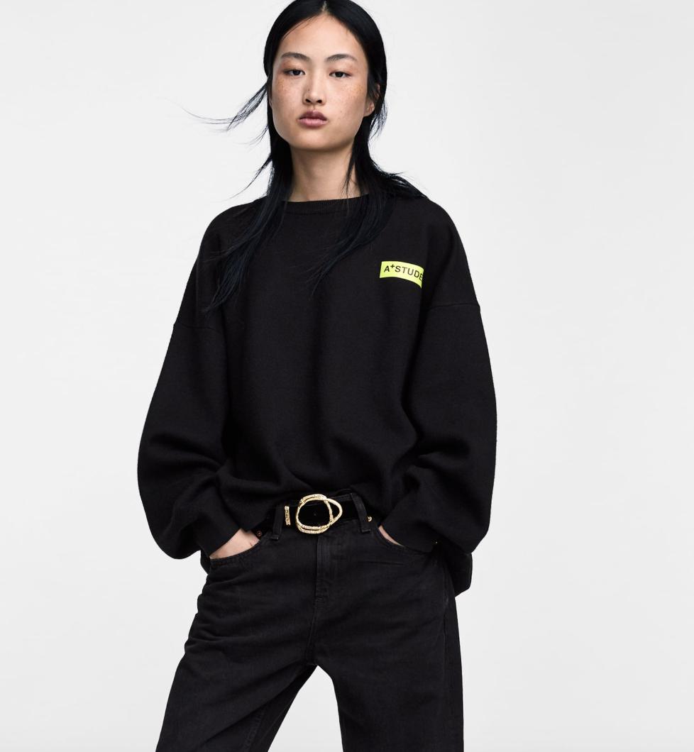 Zara, sweatshirt, £39.99
