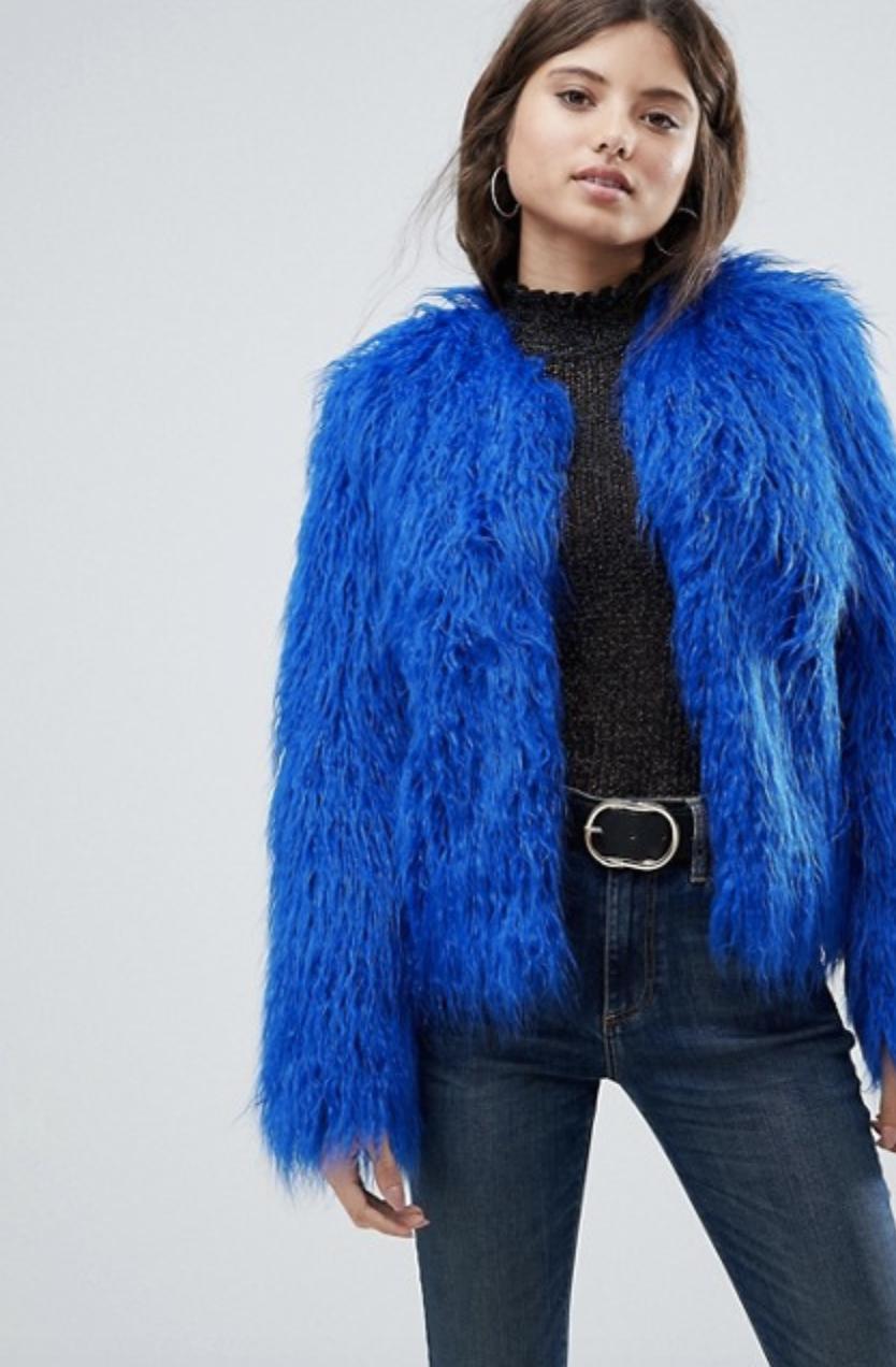 Asos, Faux Fur Jacket, £65.00