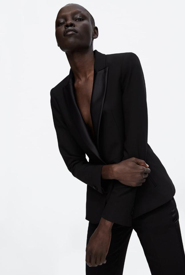 Zara, Tuxedo Blazer, £69.99