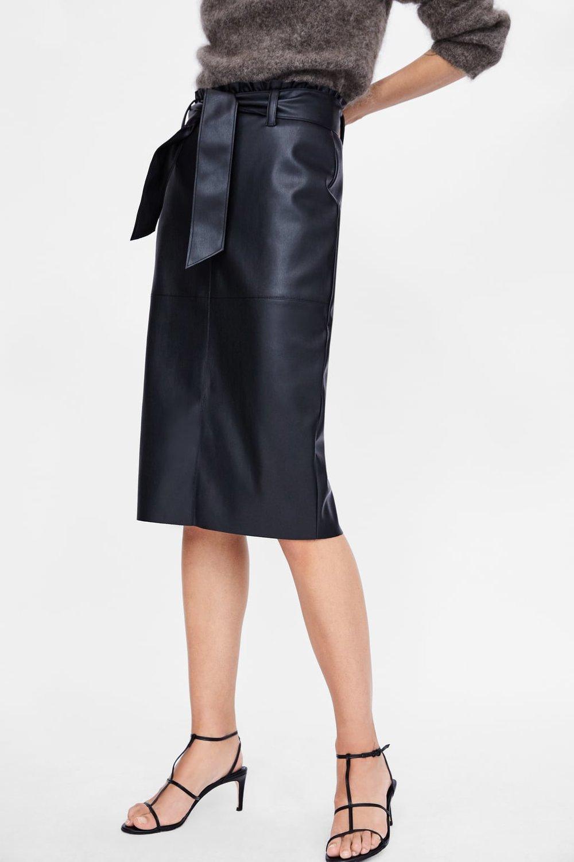Zara, Faux Leather Skirt, £25.99