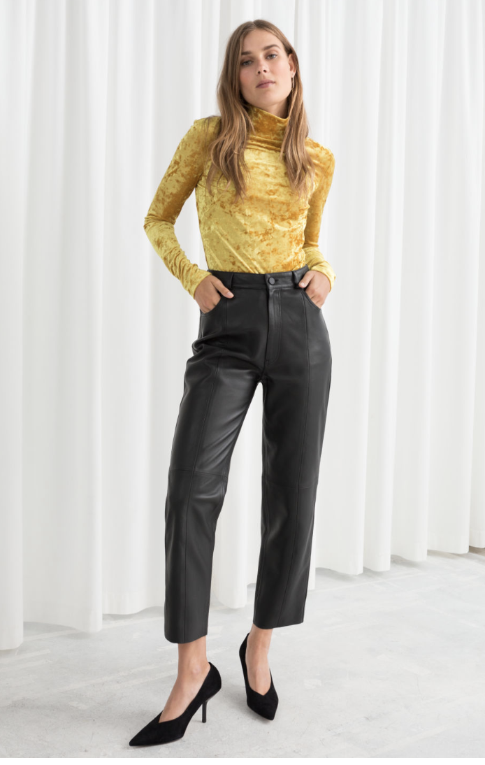 & Other Stories, Leather Trousers, £255.00