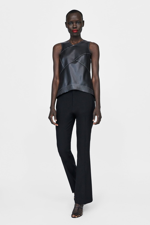 Zara, Faux Leather Top, £25.99