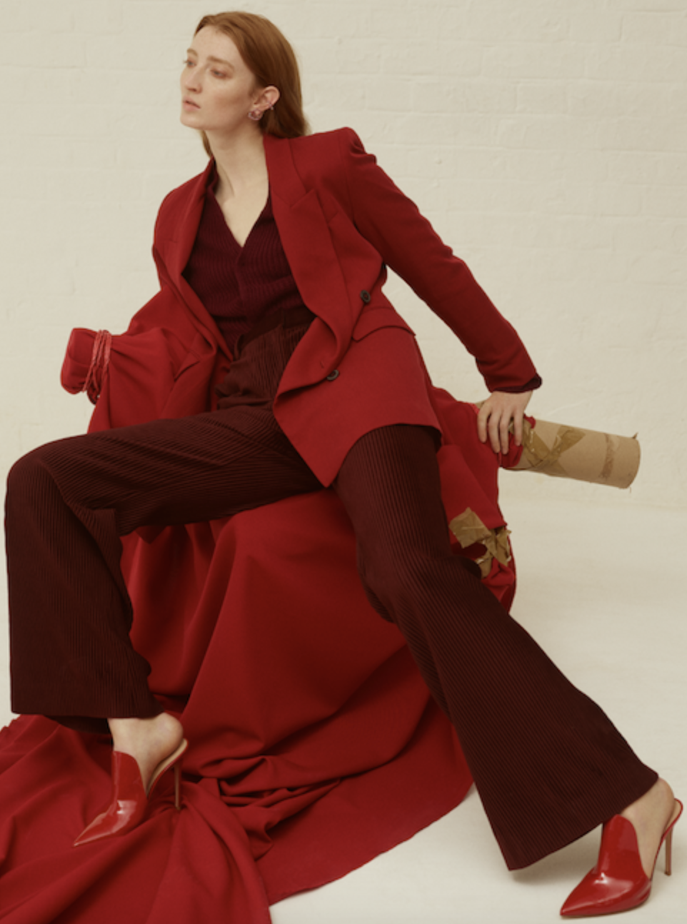 Assisting Sophie Henderson for The Red Issue for Stylist Magazine.