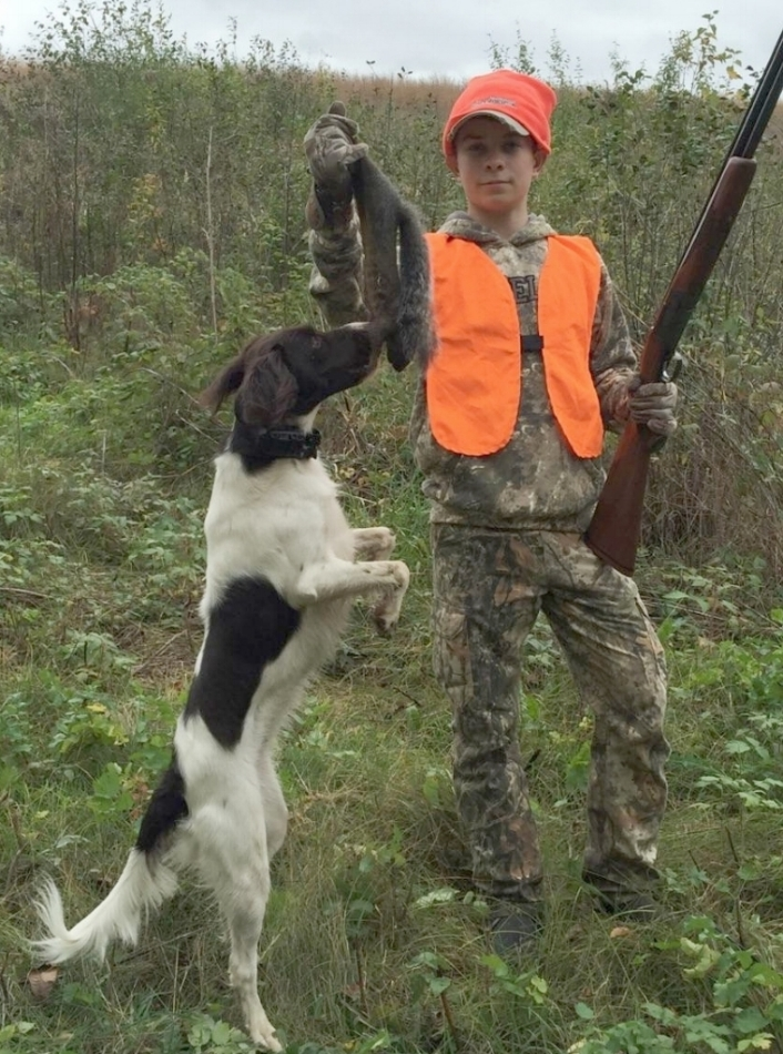 Macie and Kolby's squirrel hunt
