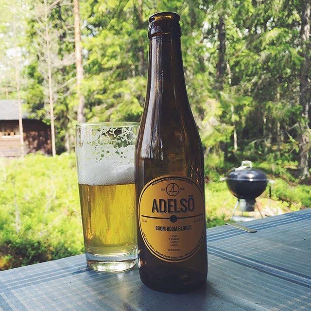 Vi hade i alla fall tur med ölen. Glad midsommar! #adelsöbryggeri #swedishcraftbeer