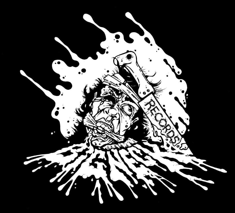 big neck records Noise Garage Scuzz Rock Horror Gore T-Shirts by Rob Fletcher
