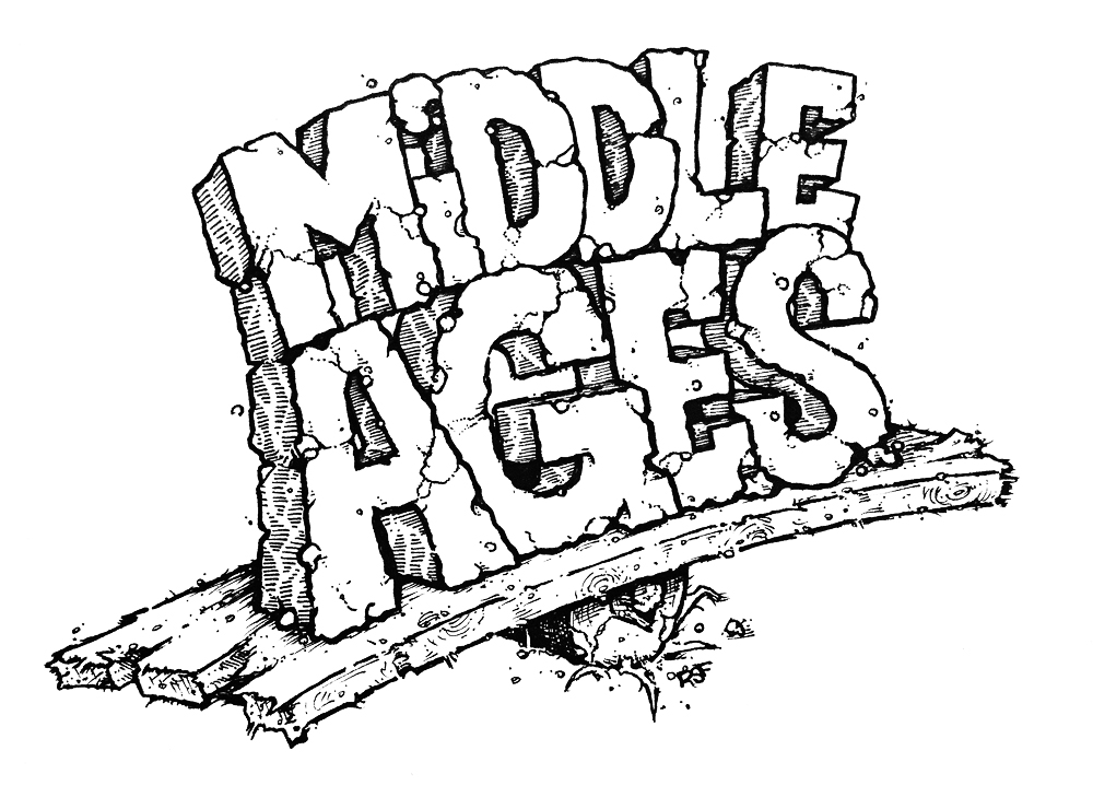 Middle Ages Noise Garage Scuzz Rock Horror Gore T-Shirts by Rob Fletcher