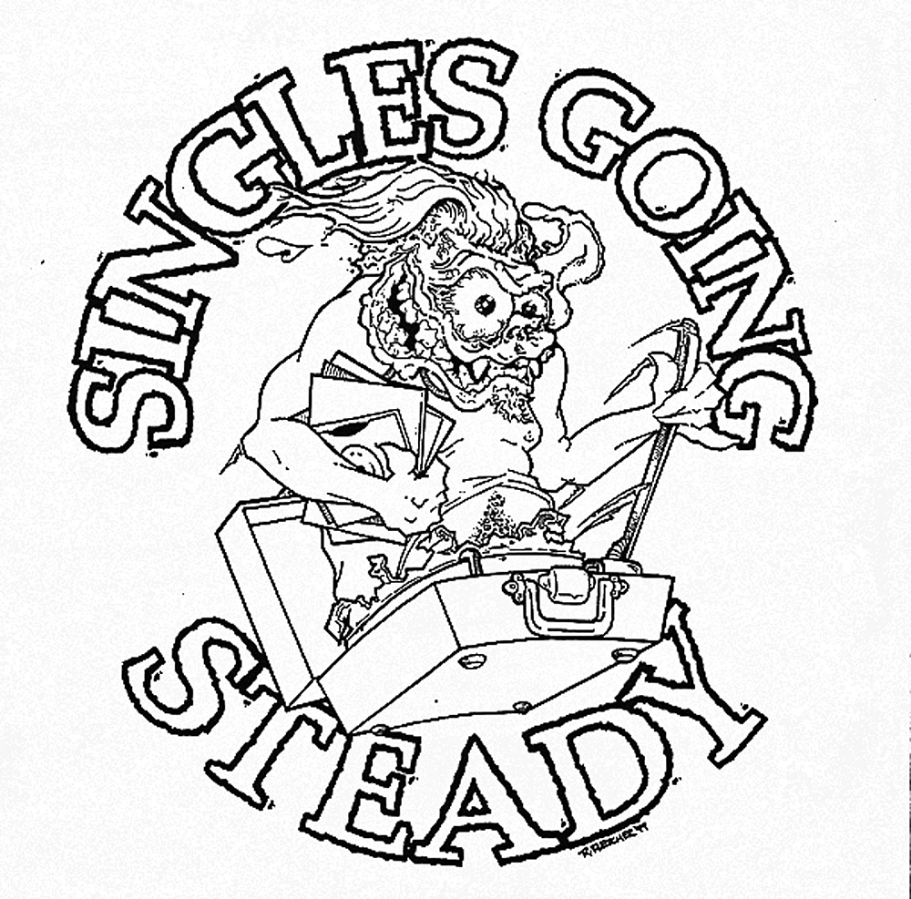 Singles Going Steady Noise Garage Scuzz Rock Horror Gore T-Shirts by Rob Fletcher