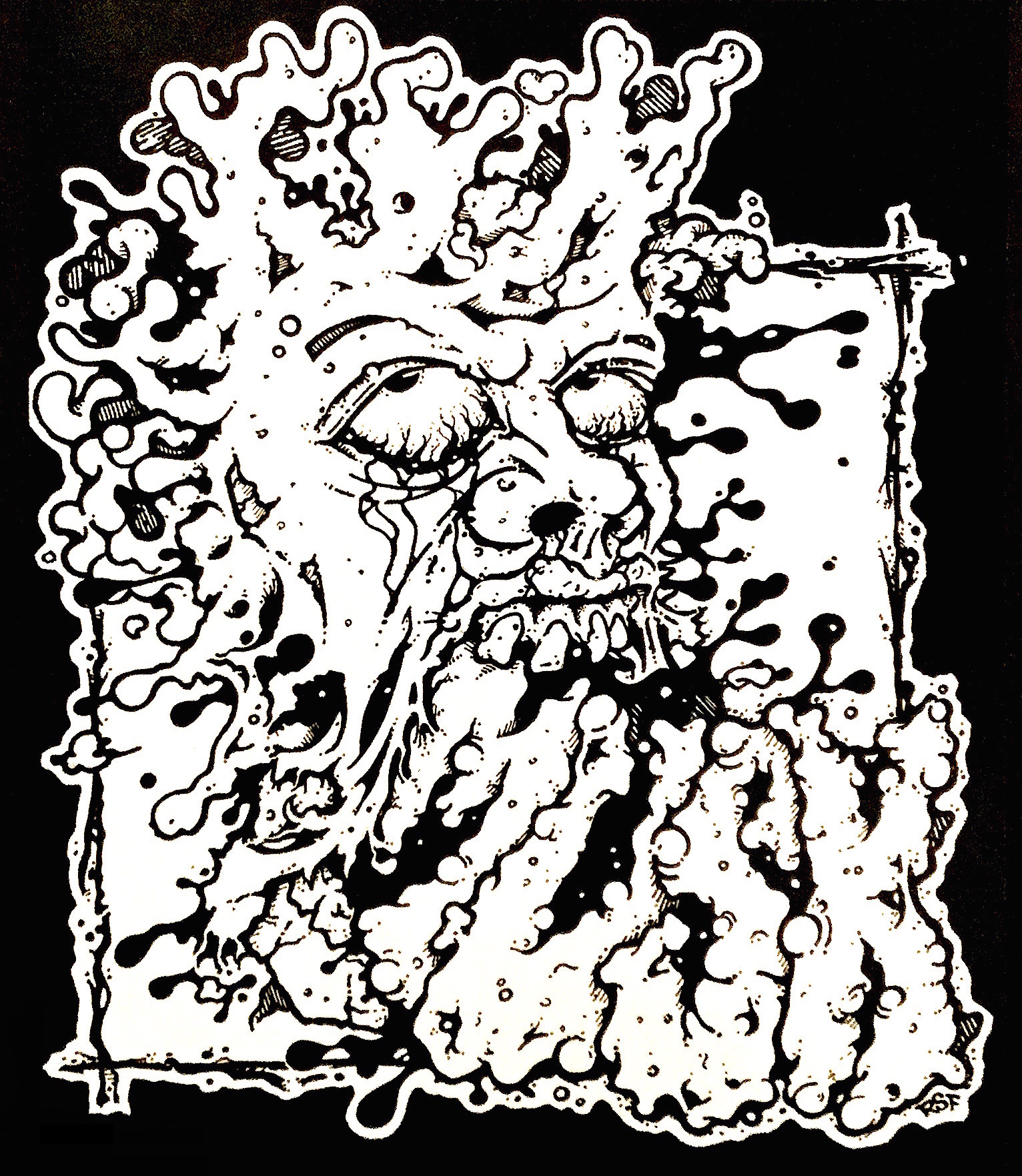 Musk Noise Garage Scuzz Rock Horror Gore T-Shirts by Rob Fletcher