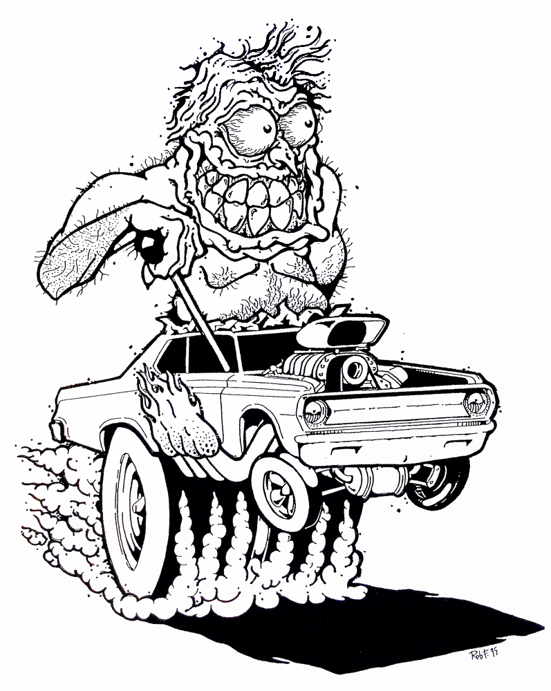 dodge monster by Rob Fletcher hotrod art roth mouse ratfink