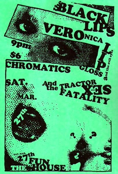 Black Lips Chromatics Tractor Sex Fatality flyer by Rob Fletcher