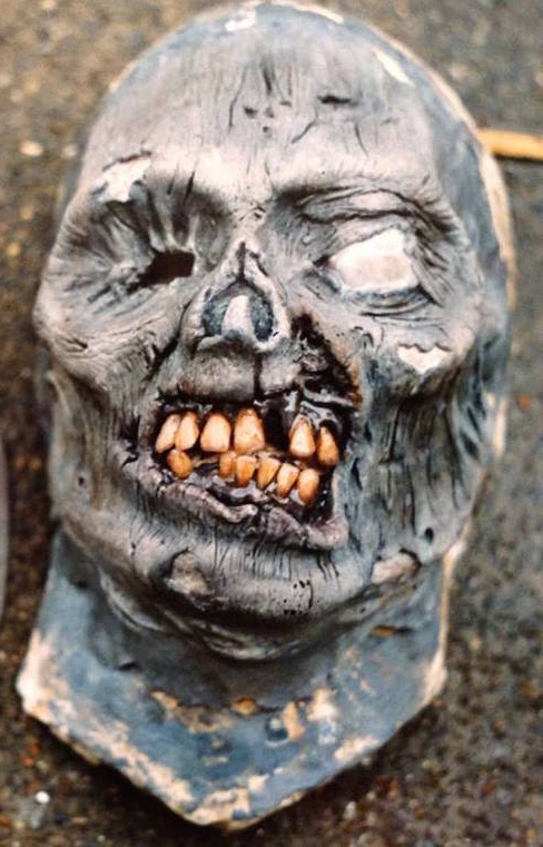 Zombie prosthetic by Rob Fletcher latex mask prop horror gore