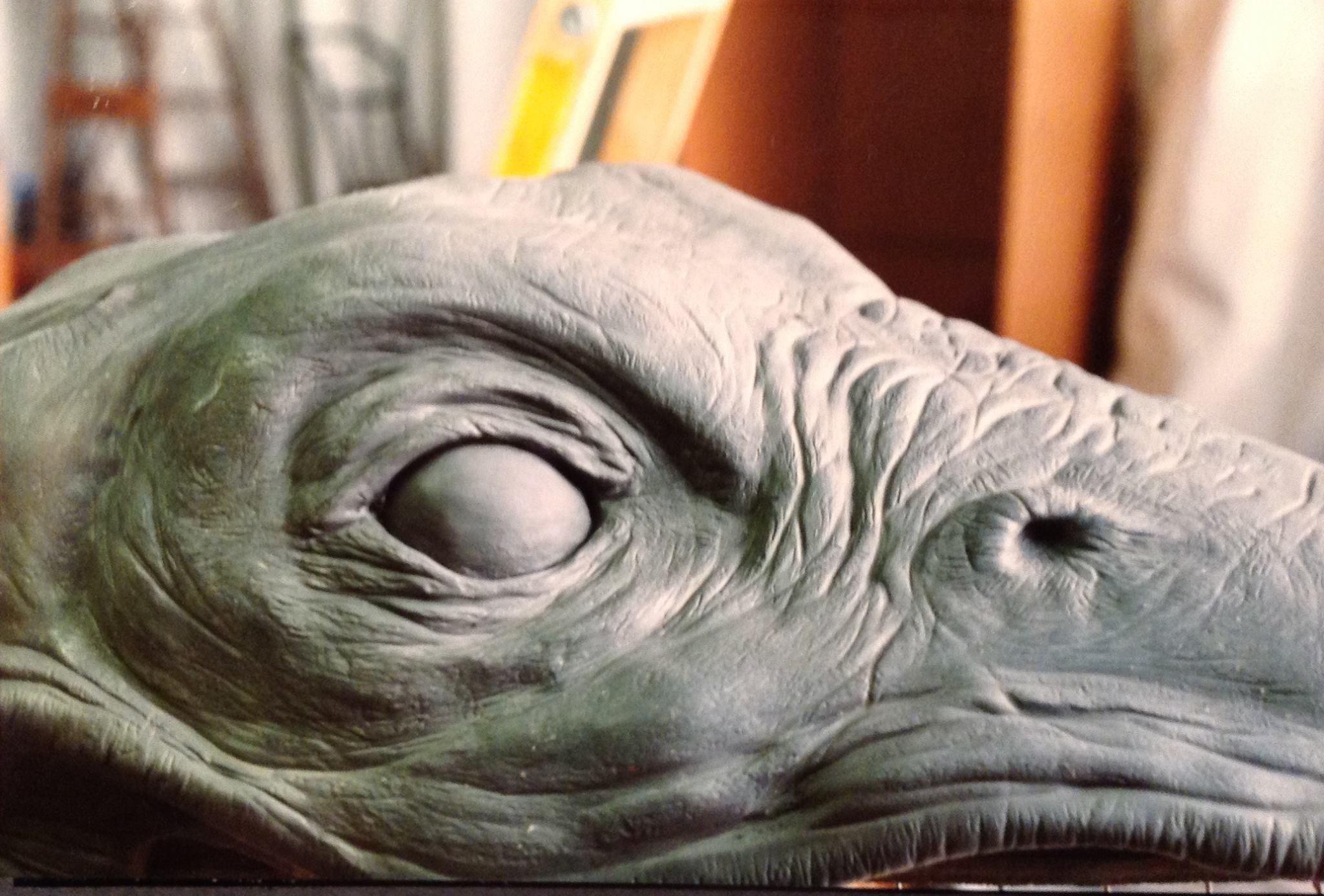 sea serpent dinosaur by Rob Fletcher latex prop horror gore colorado waterpark sally industries