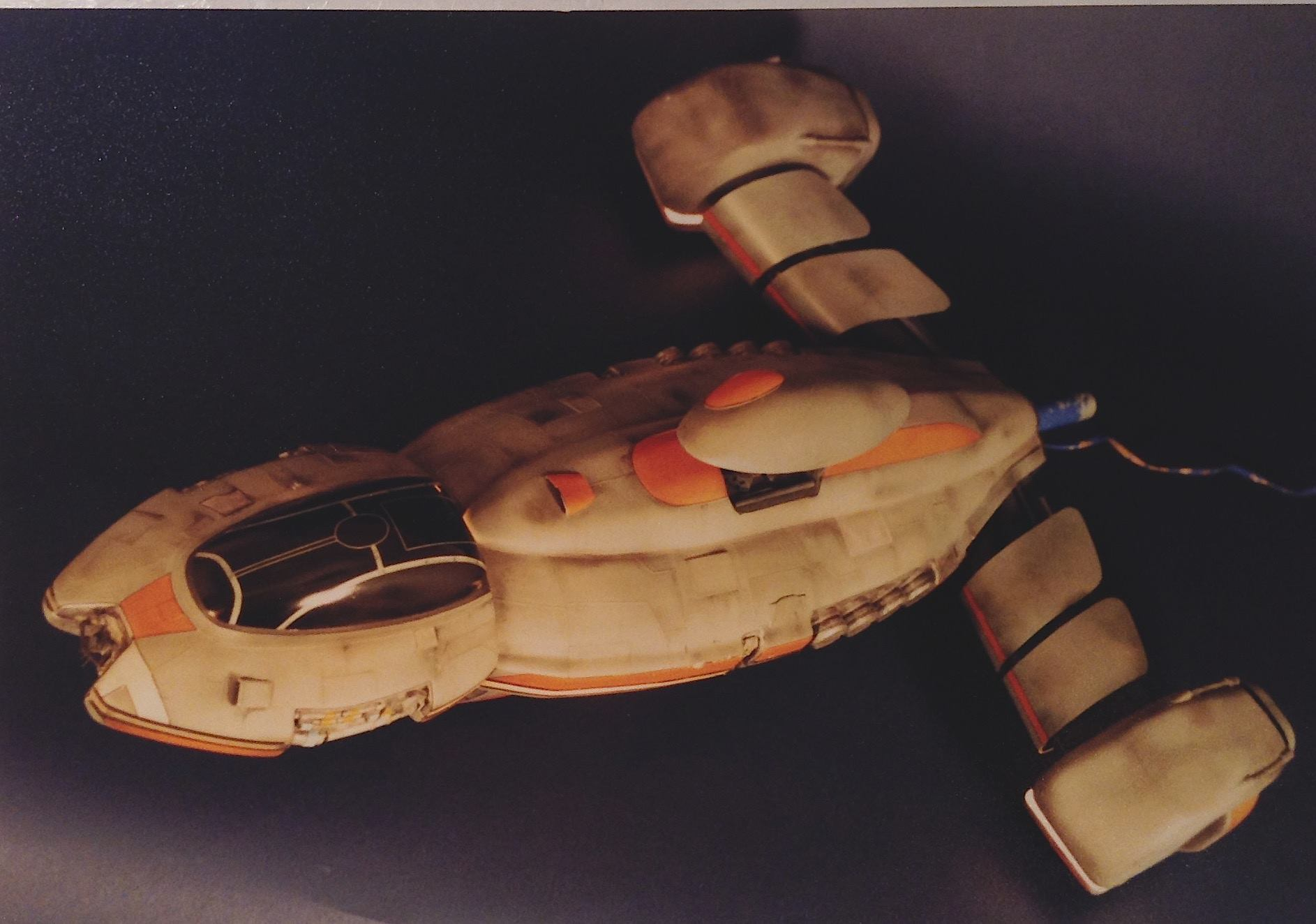 spaceship prop by Rob Fletcher and john flanagan art institute international tv commercial