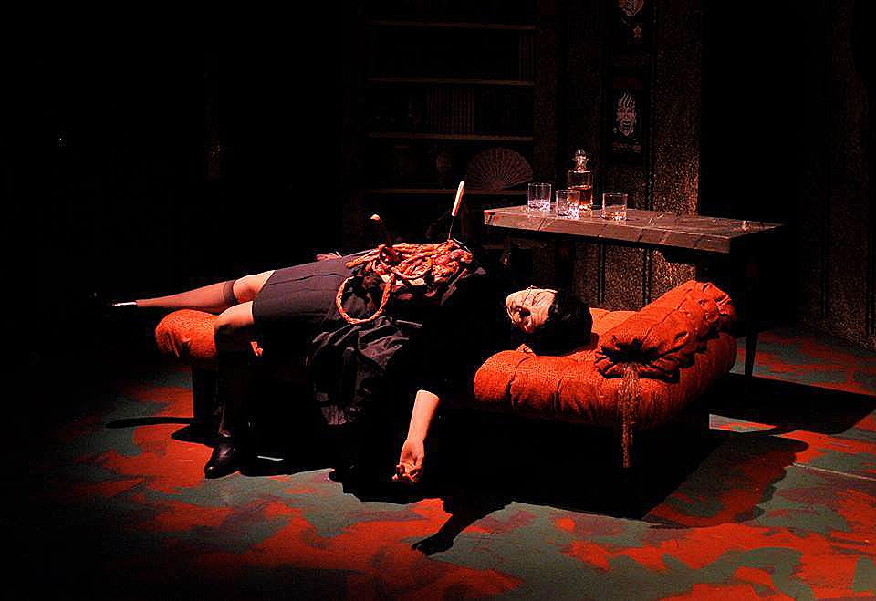 gory gut pile latex horror prosthetic by Rob Fletcher thrillpeddler shocktoberfest bride of death directed by michael phillis
