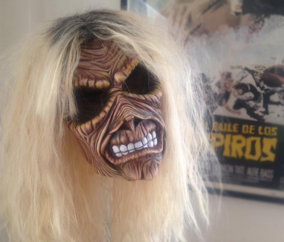iron maiden eddie the head latex horror prosthetic prop by Rob Fletcher heavy metal mask killers