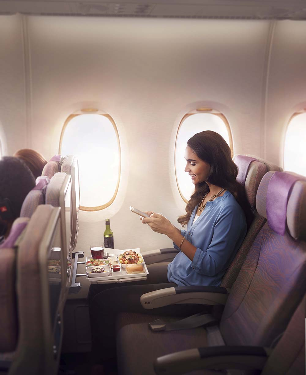 Economy Class Cuisine and Wi-Fi