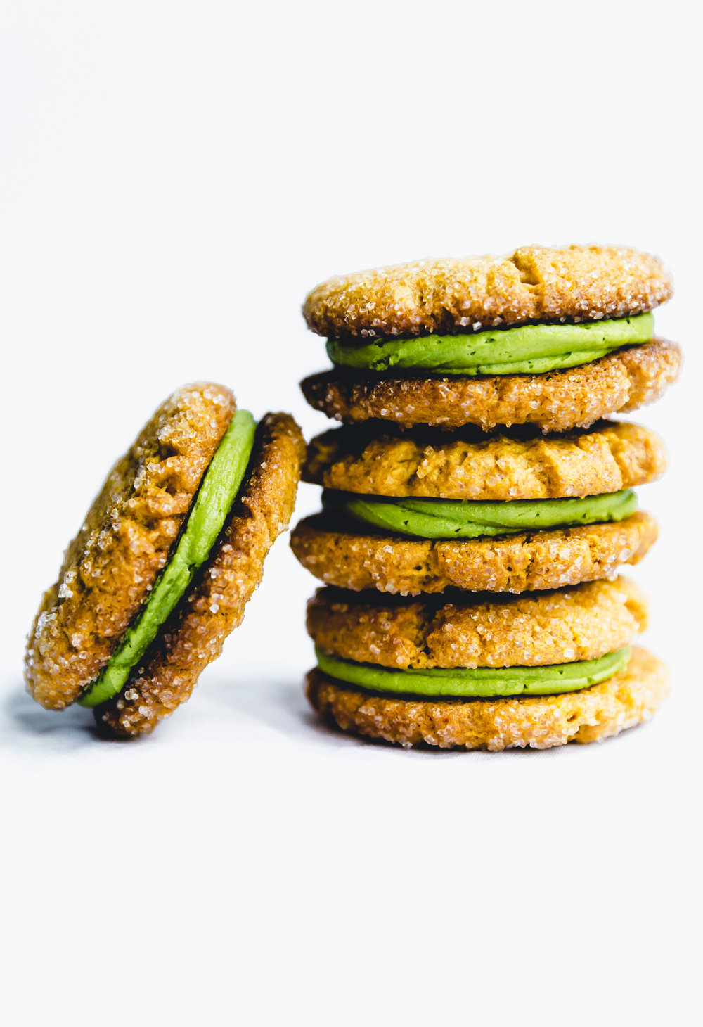 peanut butter & matcha cookie sandwiches - Delicious Monster for SideChef x Thermomix China