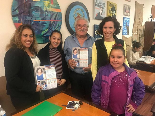 It was great to meet with the Diaz family from Walnut Park. Norma, Salvador, and I spoke about our shared goals and hope as parents for the future of education in Los Angeles. We can and must do better for all kids in LAUSD. We're all in, ready to win! #AllisonforLAUSD