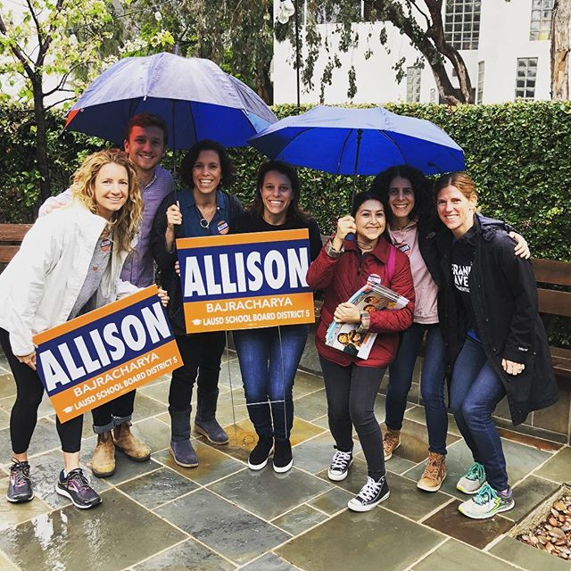 Our first GOTV Canvass is off and out knocking doors! Only 4 more days until the primary! #AllisonForAllKids #AllisonForLAUSD