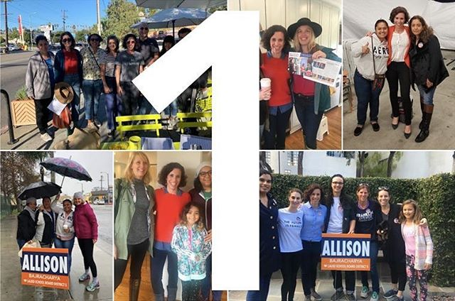 We are ONLY ONE DAY AWAY from Election Day. I am so proud of the movement that we've built to demand that we do better for all students.  In a 10 candidate field with over a million dollars in outside money spent on behalf of my opponents, we need to win the old fashioned way: having volunteer supporters out knocking doors and making phone calls or sending texts on Election Day (tomorrow--can you believe it?!) Sign up to volunteer here: https://www.allisonforallkids.org/join  See you at the polls! #Allison4AllKids #Allison4LAUSD #GOTV