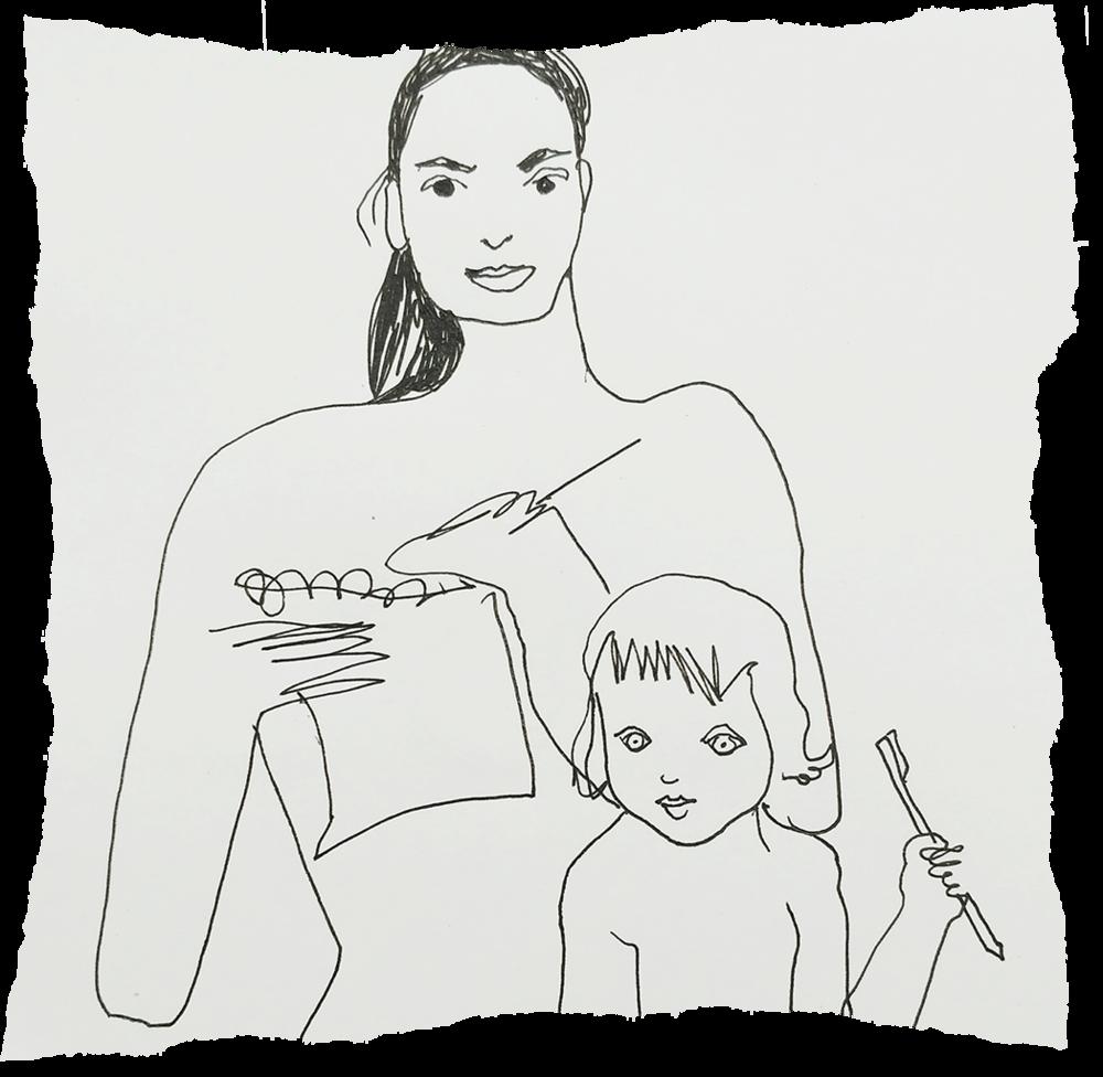 Julia Labutina- Self Portrait with daughter