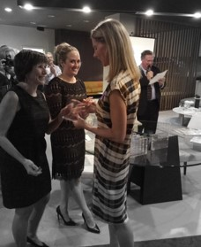Tricia Huntley receiving Designers' Choice award