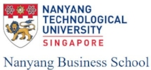 Nanyang Technological University Singapore Nanyang Business School MBA