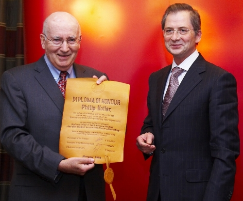 Philip receiving one of his honorary diplomas.