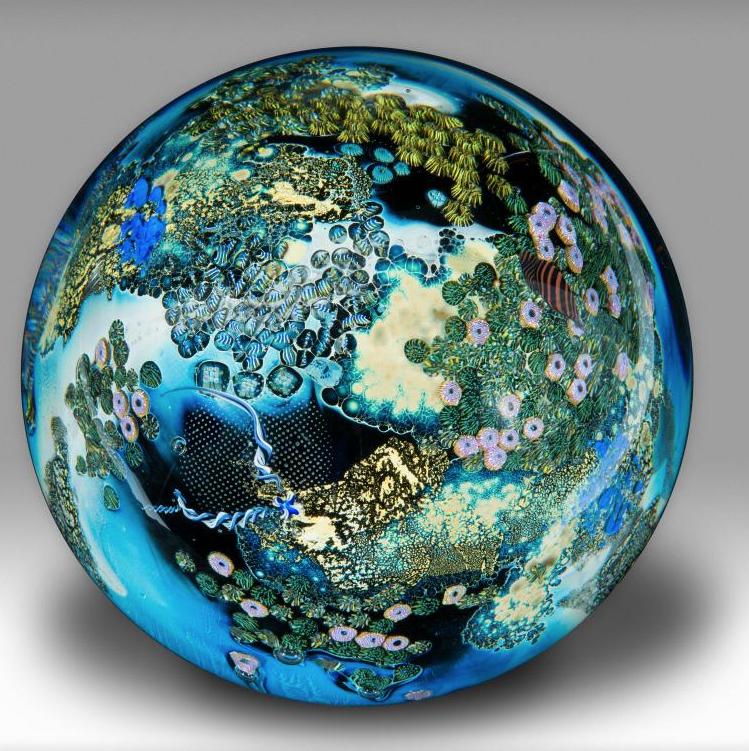 Megaplanet 5.4  by  Josh Simpson  (1989); Glass; 8 x 8 x 8 in. (20.3 x 20.3 x 20.3 cm)