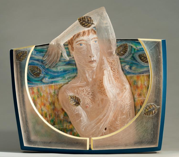 Imminent Fear by  Mark Bokesch-Parsons  (1998); Glass, paint; 22 1/2 x 24 x 5 in. (57.2 x 61 x 12.7 cm)