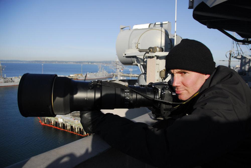 Port of Everett, WA surveillance training with the US Navy.